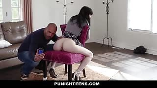 Teen Girl Dominated And Tied To Chair For Anal Sex