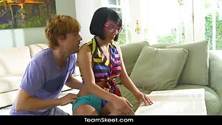 Porn Video - Lil Nerdy Teen Gets Boned